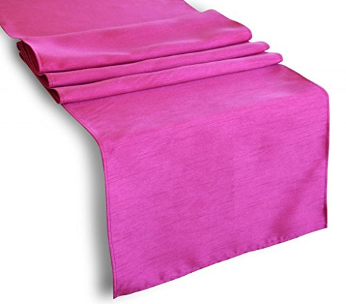 """Creative 13""""x 72"""" Classic Solid Table Top Runner - Hot Pink"""