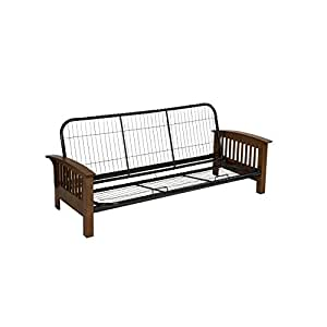 Serta Monaco Futon Frame, Queen, English Oak