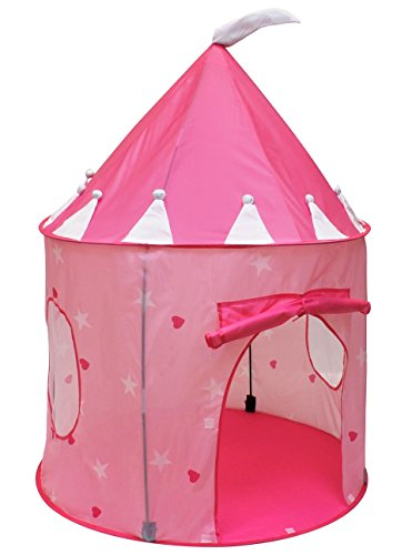 Click N' Play Girl's Princess Castle Play Tent, Pink - Play Castle