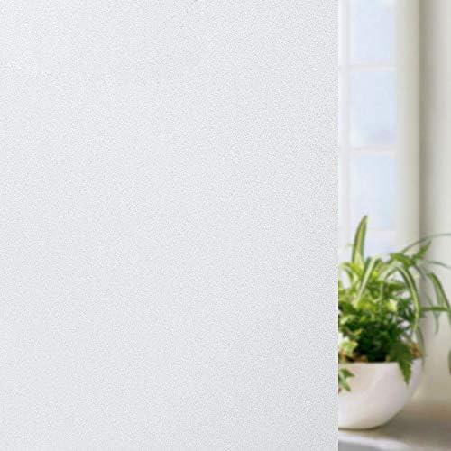 Alliebe Pellicola adesiva per la privacy della finestra, in vetro satinato, rimovibile per bagno, opaco, per casa, ufficio, soggiorno, 45 x 200 cm