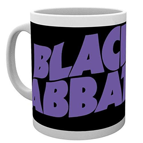 Black Sabbath Mug Classic Wavy Band Logo Ozzy Osbourne Official White Boxed ()