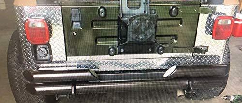 JEEP YJ WRANGLER 3 PC DIAMOND PLATE REAR BODY ARMOR CORNER GUARD KIT & filler