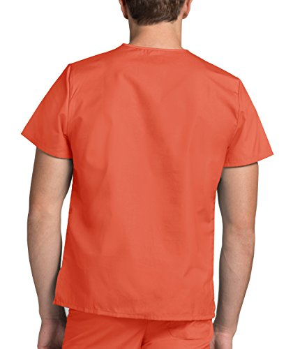 Lavoro Adar mandarin Superiore Camice Arancione Orange Da Ospedale Parte Mediche Unisex Infermiera Uniformi q4ZzqF