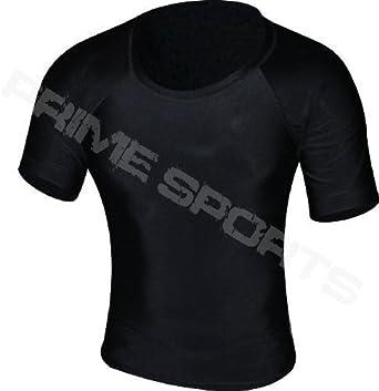 Prime Camiseta de Neopreno Chaleco MMA Correr Pelea UFC Camiseta de Manga Corta Hombre Boxeo Negro Media Manga Mediana: Amazon.es: Ropa y accesorios