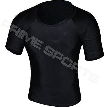 Prime Rash Guard Vest - Camiseta hombre MMA Grappling UFC, boxeo manga semi-larga