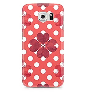 Samsung S6 Edge case Cute Heart Pattern For Valentines Day And Loved Ones, Great For Girls-Sleek Finish Durable Wrap Around Phone cover 163