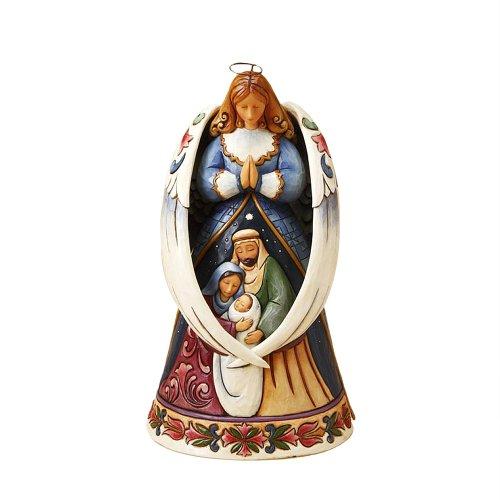 Enesco Angel with Wings Around Nativity Figurine