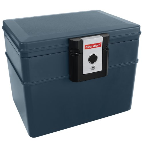 First Alert 2037F Fire and Water File Chest, 0.62 Cubic Foot, Gray