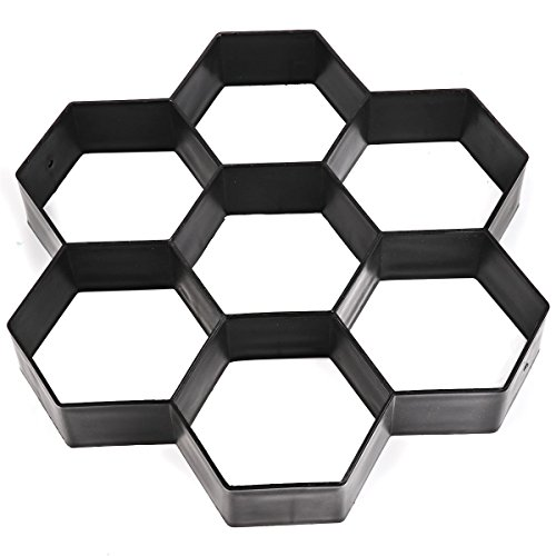 iiniim Path Maker Mould, Hexagon Paving Concrete Stepping Stone Paver Walk Maker Mold for Paving Pavement Patio Walkway