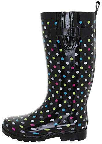 Capelli New York Damer Glänsande Paraply Tryckt Regn Boot Black Multi
