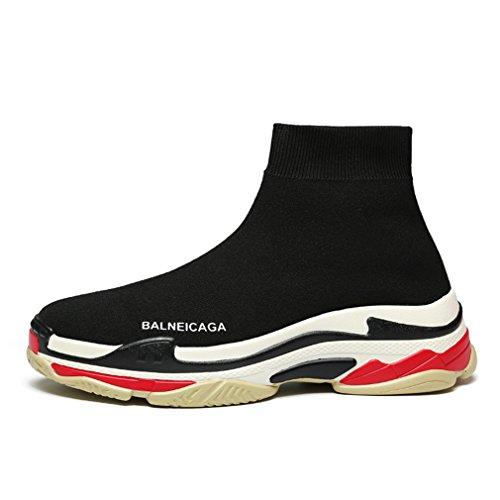 Men Sneaker Running Shoes Women Elastic Socks Shoes Breathable Sports Shoes black 6