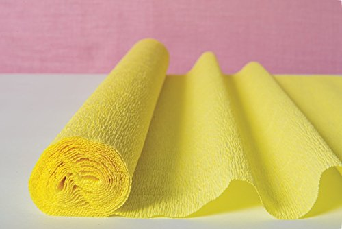 - Luna Bazaar Premium Heavy Italian Crepe Paper Roll (20 Inches x 8 Feet, Lemonade Yellow) - for DIY Projects, Table Runners, and Gift Wrapping