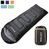 SOULOUT Sleeping Bag - 4 Seasons Warm Cold Weather Lightweight, Portable, Waterproof Sleeping Bag with Compression Sack for Adults & Kids - Indoor & Outdoor: Camping, Backpacking