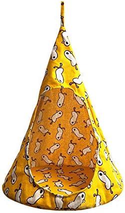 WLLBT Kattenhuis linnen sponstent huisdierbenodigdheden kattenbed tent hangmat conisch ademend S 4