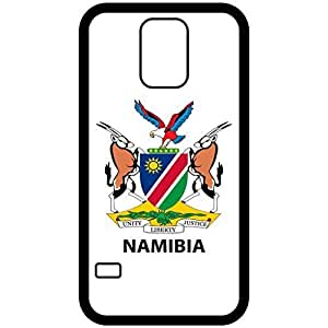 Namibia - Coat Of Arms Flag Emblem Black Samsung Galaxy S5 Cell Phone Case - Cover