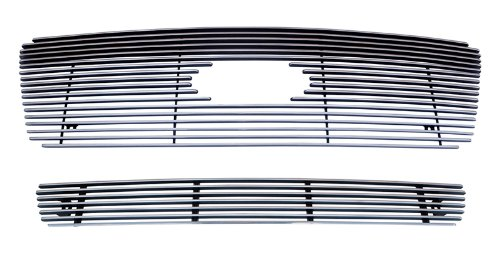 (MaxMate Fits 04-05 Ford F-150 (Original Shell has to be Honeycomb) 2PC Combo Horizontal Billet Polished Aluminum Grille Grill Insert)