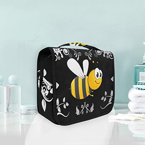 Toiletry Bag Bumble Bee Portable Makeup Storage Cosmetic Bag -