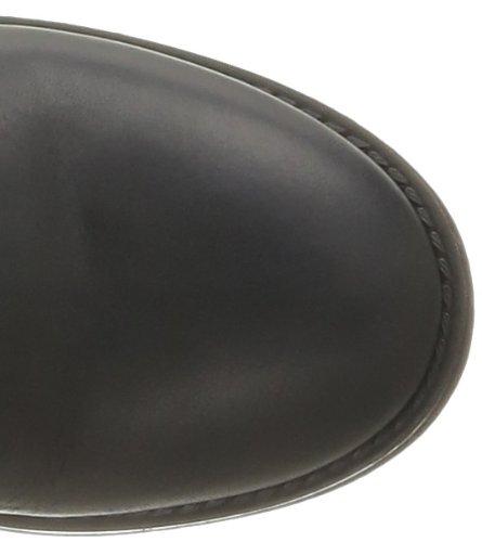 Pieces Iza - Botas de cuero mujer negro - Noir (Black)