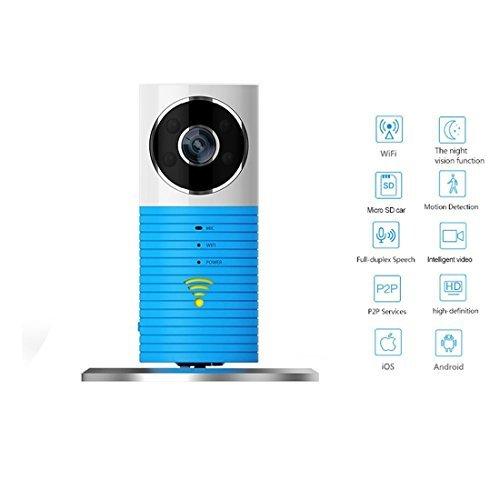 eDealMax Sistema de Vigilancia de Corte Noche autorizado DOG-1W perro inteligente Smart Home Baby Monitor WiFi cmara de seguridad Azul US Plug-IR Visin inalmbrico Para tabletas