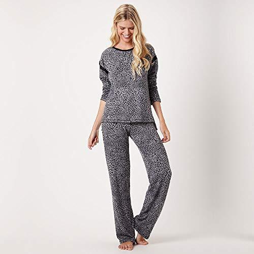 8680fba42 Pijama Longo Malha Tricot Joanesburgo ...