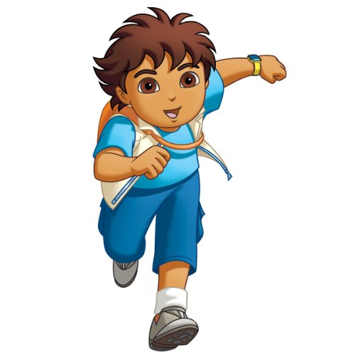 Go Diego Go Wall Appliques (RoomMates RMK1401GM Go Diego Go! Peel & Stick Giant Wall Decal)