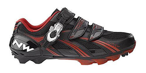 Northwave Men's Sparta SBS Mountain Cycling Shoes, Black / Red, 37