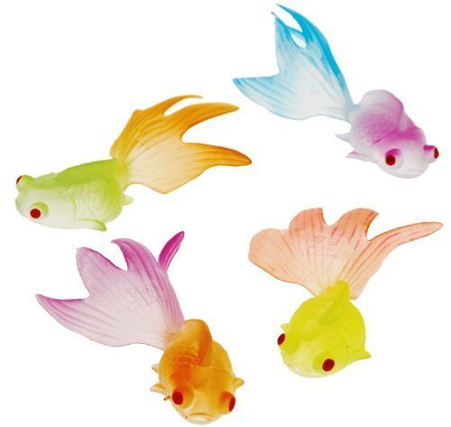 US Toy Glow in the Dark Goldfish Party Accessory (3-Pack of 12)