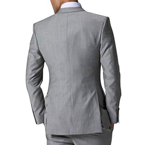 154 George Pantalon Homme Gilet De Costumes Gris 3 Costume Pièces Robe Hommes Set Veste rSw7UrZzq