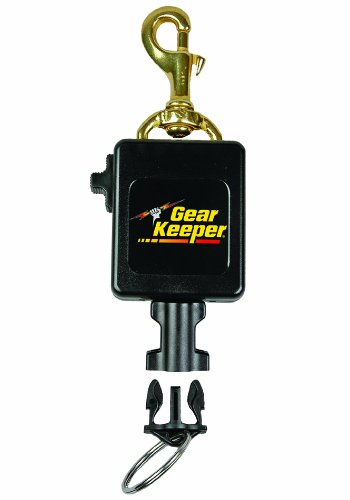 Gear Keeper RT3-0083 Locking Scuba Console Retractor Swiveling Brass Bolt Clip Mount with Q/C-II Split Ring Accessory by Hammerhead Industries