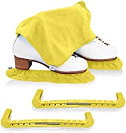 CRS Cross Skate Guards, Soakers & Towel Gift Set - Ice Skating Guards and Soft Skate Blade Covers for Figu
