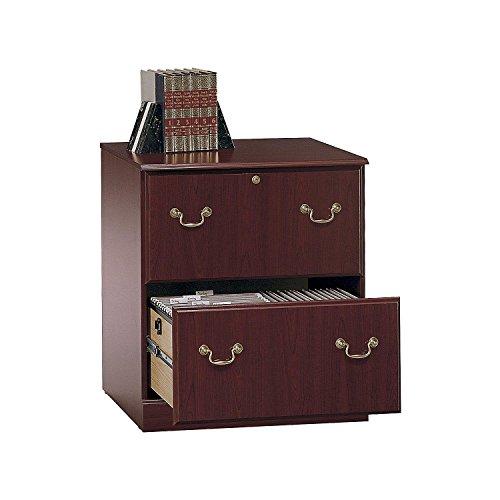 (Bush Furniture Saratoga Lateral File Cabinet in Harvest Cherry)