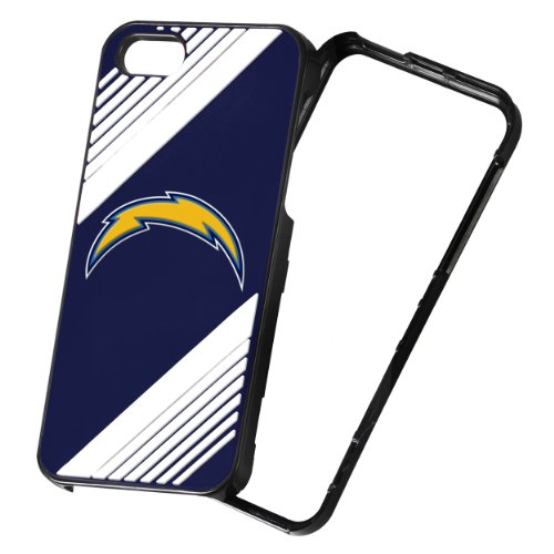 (Forever Collectibles NFL 2-Piece Snap-On iPhone 5/5S Polycarbonate Case - Retail Packaging - San Diego Chargers)