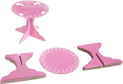 Wilton Pink Individual Cupcake Stands, 6 Count