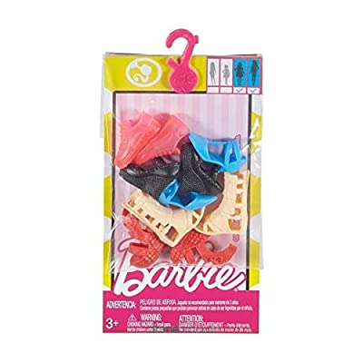 Barbie Accessories Curvy & Tall Doll Shoe Pack: Toys & Games