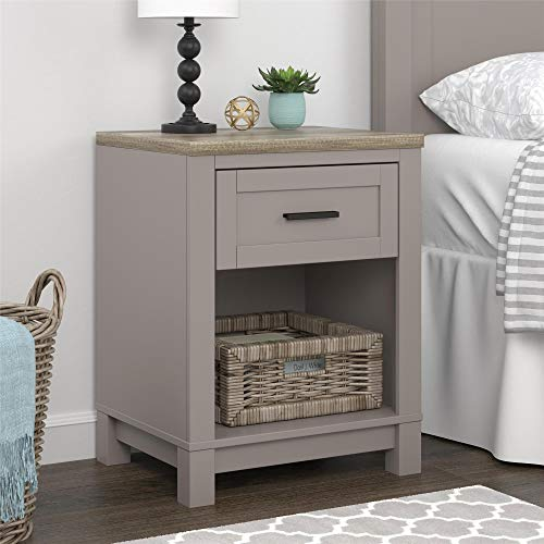 Ameriwood Home Carver Nightstand, Gray ()