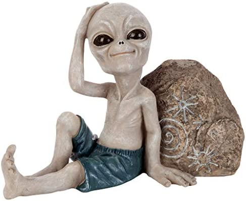 Large Design Toscano The Out-of-this-World Alien Extra Terrestrial Statue