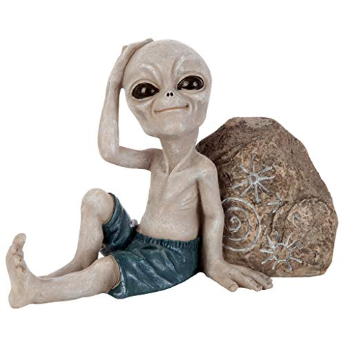 Design Toscano LY612243 Surfer Dude Out-of-This-World Alien Statue, Full Color