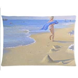 Fun At Beach Pillowcases Custom Pillow Case Cushion Cover 20 X 30 Inch Two Sides