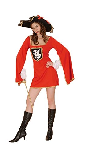 Rimi Hanger Womens Musketeers Costume Night Party Fancy Dress Outfits One Size US 4-10 ()