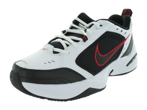 Nike Air Monarch IV (4E) US Mens 12.5 Wide (White/Black/VarsityRed)