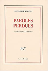 Paroles perdues par Romanès