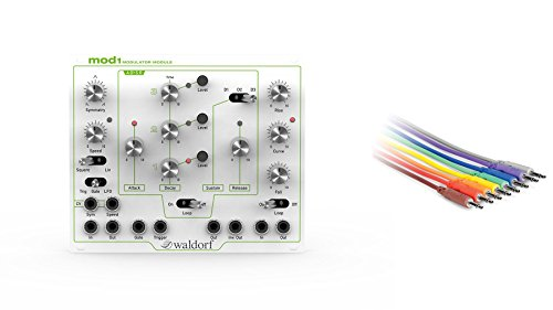 Waldorf MOD1 Eurorack Modulator w/ Hosa CMM-845 18-inch CV Patch Cable 8-Pack by Waldorf