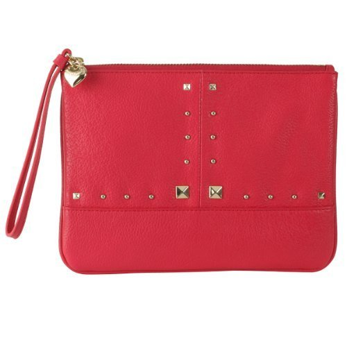 Juicy Couture Leather Wristlet Clutch - Pink