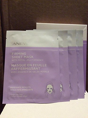 Avon Mask (Avon Anew Firming sheet mask with Royal jelly essence box 4 single sheet)