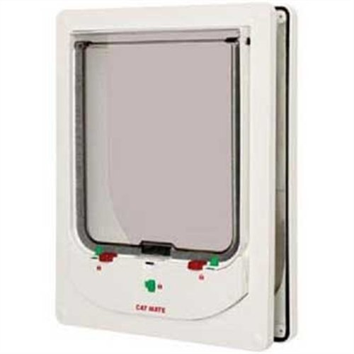 Cat Mate Electromagnetic Large Cat or Small Dog Door - White (Electromagnetic Cat)