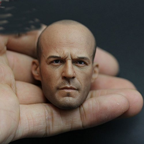 1/6 Scale Jason Statham Head Sculpt Model For 12