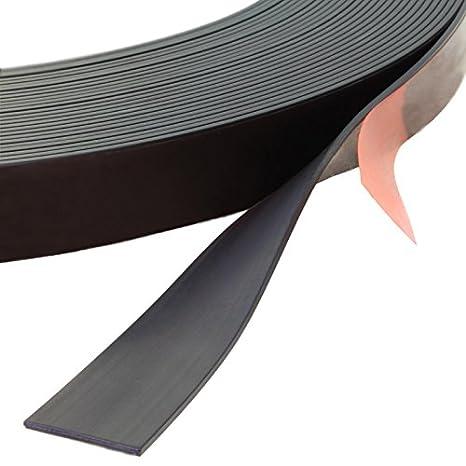 Klebeshop24, nastro magnetico autoadesivo, diverse dimensioni, flessibile, ritagliabile, resistente alla rottura, magnetizzato su un lato, adatto per le segnalazioni, i pittogrammi, il materiale di presentazione, le lavagne bianche, ecc.