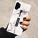 Omio for Galaxy Note 10 Plus 5G Marble Case Shockproof Cover for Galaxy Note 10 Plus Loop Case Ring Grip Holder Kickstand Finger Circle Strap Smooth Anti-Scratch Case for Galaxy Note 10+/Note 10+ 5G