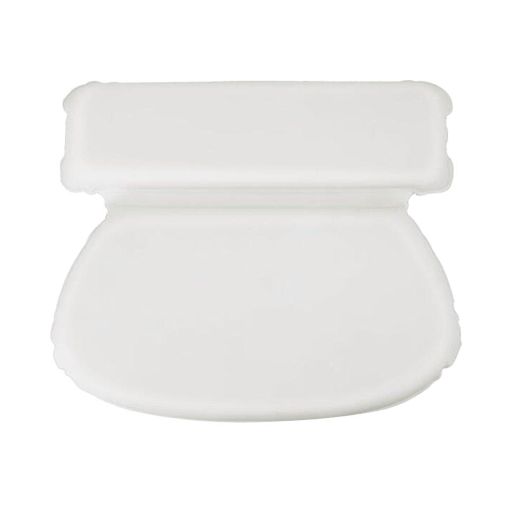 Homyl 1pc Luxury New Suction Bath & Spa Soft White Pillow, Bonus Goats Milk Soap