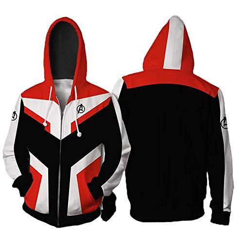The Avengers' Ultimate Hoodie Quantum Kingdom Cosplay Costume 3D Printed Zip-up Jacket Pullover Sweatshirt (White, M)]()
